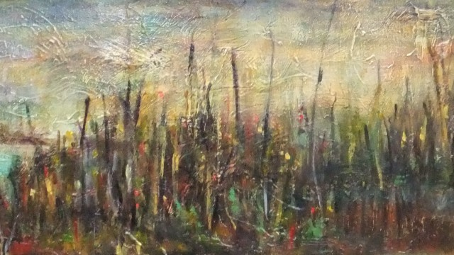 "The Marsh, 36"" x 12"", Sold"