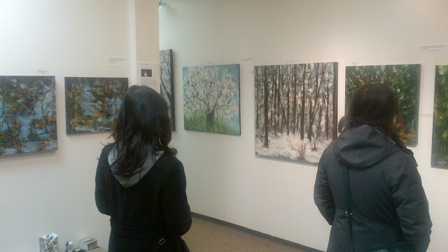 Visitors to my studio during the Crawl on Sat. Nov. 17
